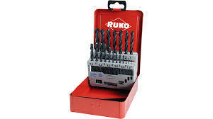 HSS ROLLED BIT SET (19 Piece) (1-10mm) RUKO