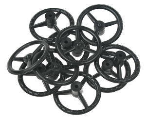BLACK STEERING WHEELS (PACK 10)